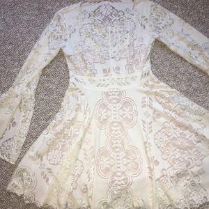 Free People Bell Sleeve Lace Dress- Sz 2